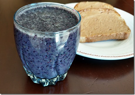 Berry Smoothie and toast