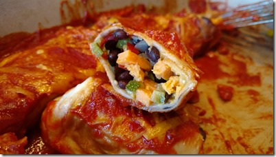 Enchilada black bean and vegetable