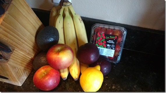 Produce on countertop