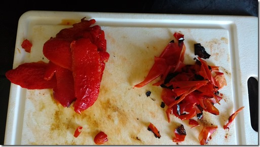 Red pepper roasted, peeled