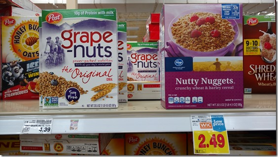 store vs. name brand wheat cereal