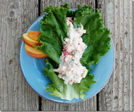 Tuna mix lettce wrap